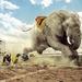 hd-grappige-achtergrond-met-een-rennende-olifant-wallpaper