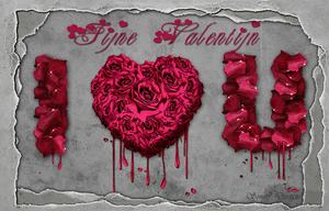 gescheurd papier valentijn