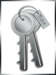 zelf een sleutel getekend in fotoshop