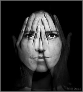 d exposure hands -over face effect