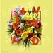 bloemen en tekst
