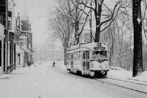 Lijn 14 in de sneeuw