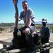 Victor, heel ver weg een glimp van de Tafelberg