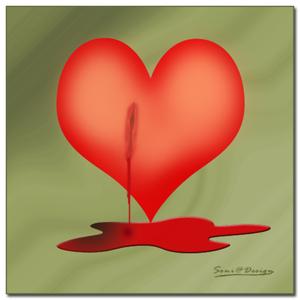 bloedend hartje