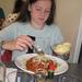 33) Jana eet spaghetti in resto Hallebad