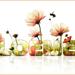 tekst met bloemen 1