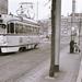 PCC 1215 op lijn 1 naar Delft op de Turfmarkt. (06-02-1967)