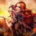 Beautiful-fantasy-girl-red-haired-smile-dragon-fire_1920x1080