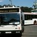 Gelede bus 901 maakt een scherpe draai bij het Buitenhof 06-08-19
