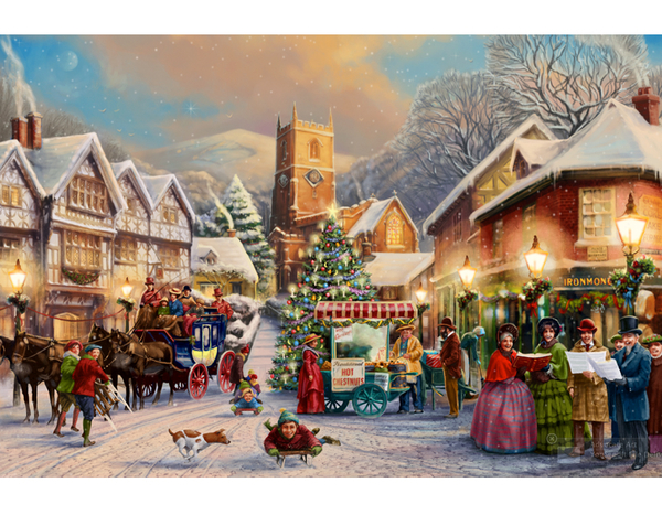 advocate-art-mat-edwards-christmas-scene_snow_church_choir_victor