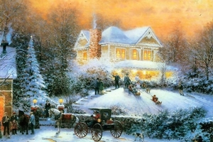 thomas-kinkade-christmas-wallpaper