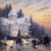 victorian christmas-scene