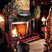 the-library-fireplace-decorated-with-garlands-and-trees-image-fro