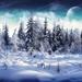 74703-winter-moon-trees-snow-mountain-nature