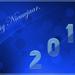 gelukkig nieuwjaar blauw