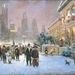 painting-chicago-michigan-ave-in-front-of-art-institute-christmas