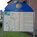 Een infobord jacobsweg in Mettendorf (Eifel)