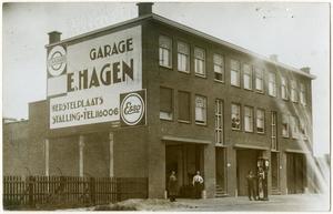 Laakweg 31-35, garage E. Hagen Datering 1934