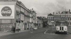 Turfmarkt, gezien naar de Nieuwe Haven 1960
