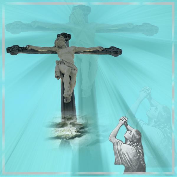 Maria Magdalena bij het kruis.