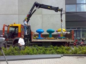 Kunstwerken lossen bij UWV Veendam