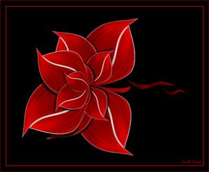 bloem met paden