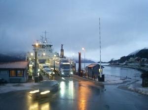 Kleine veerpontjes in Noorwegen