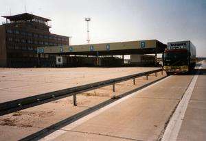 Oude grens Oost-West BRD-DDR bij Berlijn
