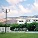 hotel tegen de bergen