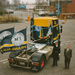 Verheggen gearriveerd per Vracht Taxi chauffeur Gerrit Cazemier