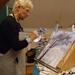 Aan het werk op mijn olieverfschilderclub