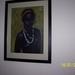 zwarte dame,olieverf