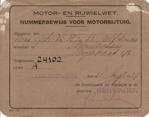 Nummerbewijs van A-24102