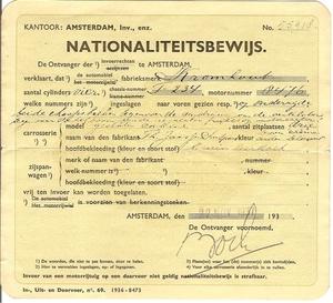 Nationaliteits Bewijs