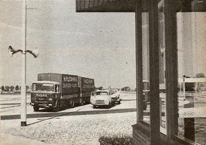Nijdam aan de grens Nieuwe Schans in 1969