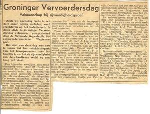 Vervoerders Dag Groningen