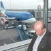 Samen met de zoon op weg naar Heathrow.