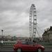 London Eye vanaf  de brug.
