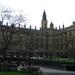 De ingang van the Houses of Parlement.