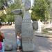 Stenen rond vijver is Saporozhye