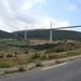 De brug van Millau 270 m boven de Tarn