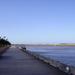 Promenade, wandel en fietspad langs de vaargeul